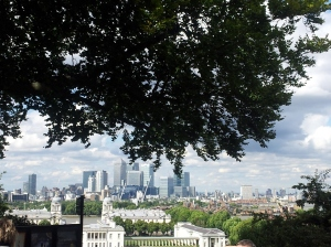View of London from the top of Greenwich.