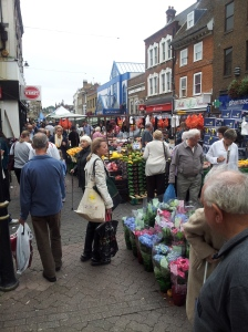 Dartford Saturday Farmers Market. I love going here because stall owners yell back and forth to each other and call out deals to customers, it's a great experience.
