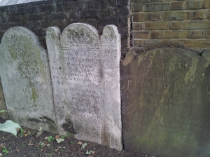 Some of the headstones in the park.